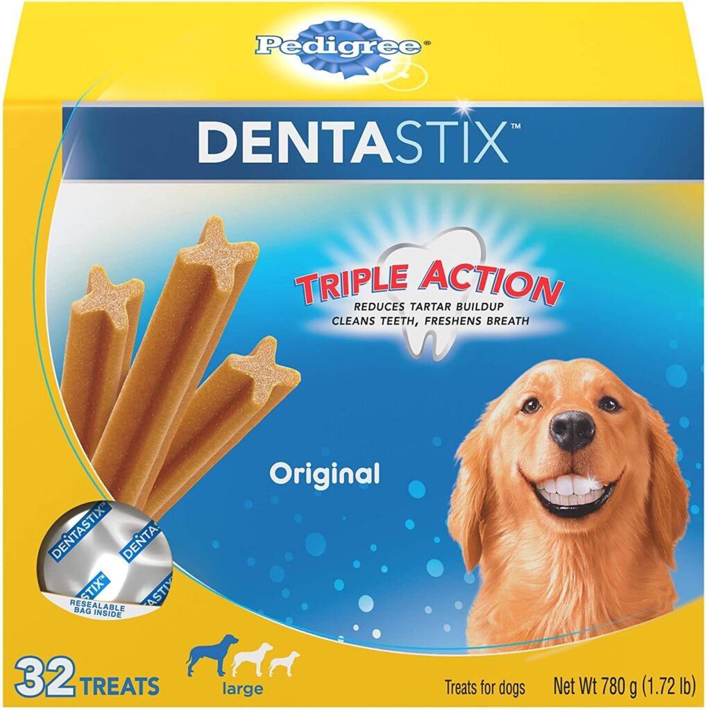 Help Your Dog Stay Calm During Thunderstorms with this pedigree dentastix