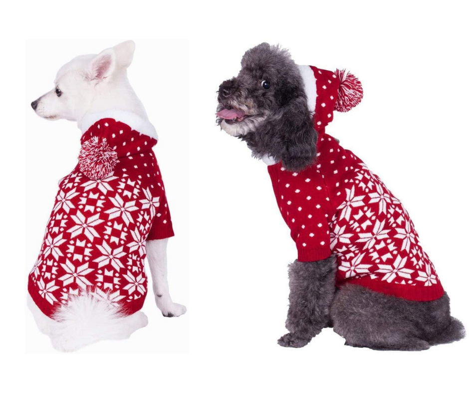 Best Christmas Dog Costumes  Hoddie sweater