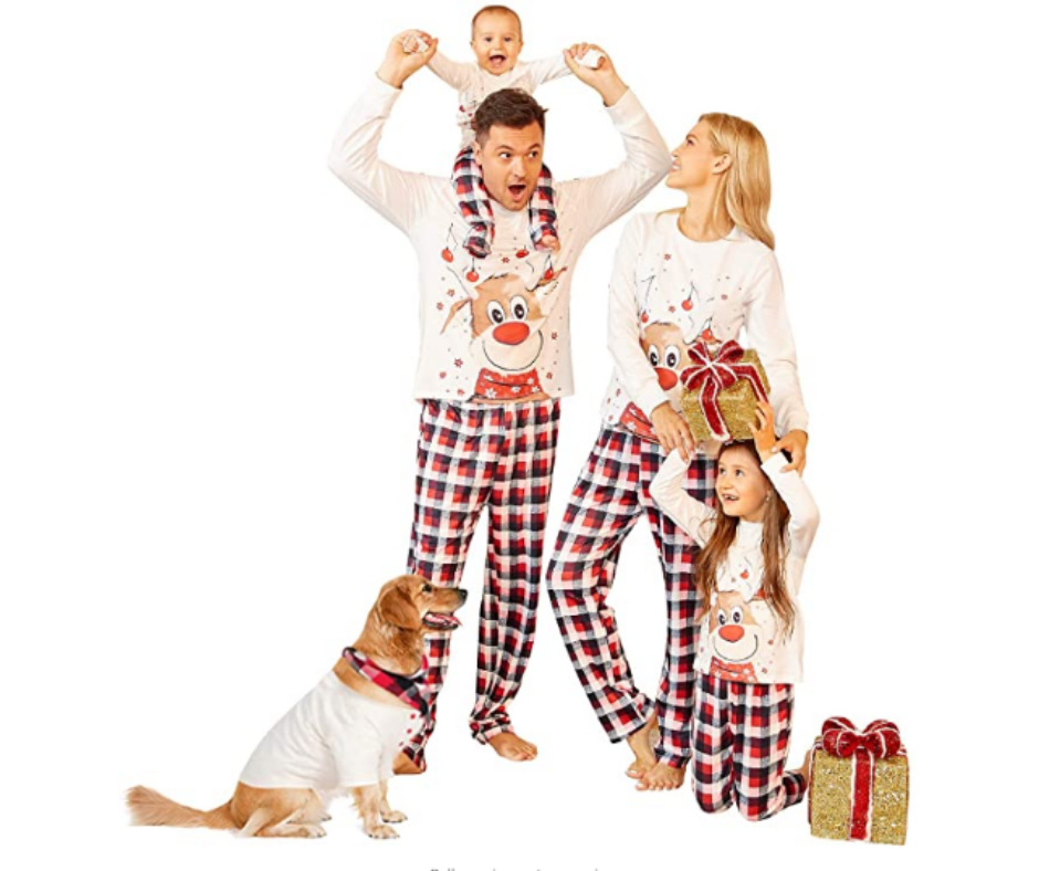 Best Christmas Dog Costumes A family set of pajama