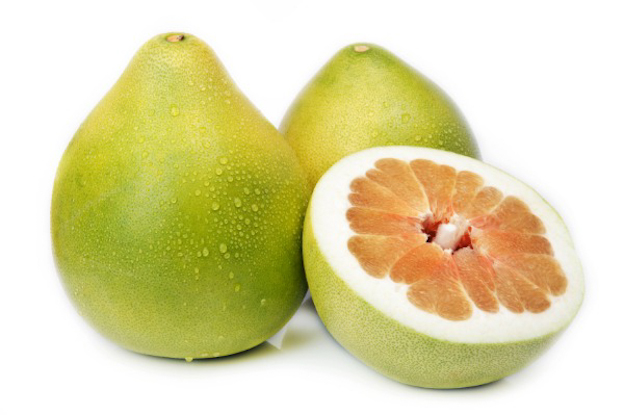 Can Dogs Eat Pomelo? A two  whole and a half of Pomelo fruit